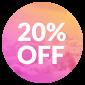 Happy Week Promo · 20% OFF