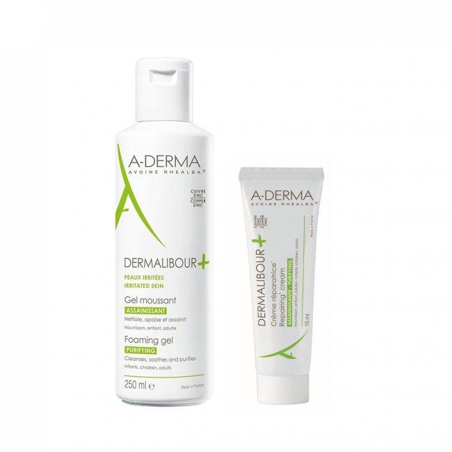 PACK PROMOCIONAL: A-Derma Dermalibour Foaming Gel 250ml + Repairing Cream 15ml