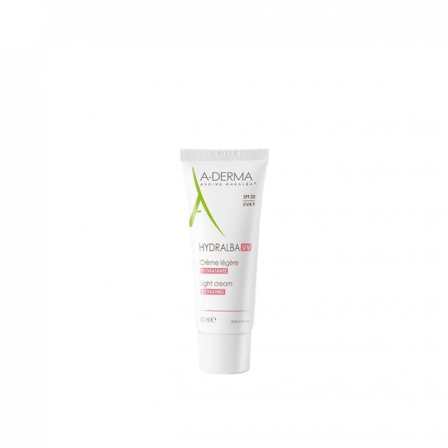 A-Derma Hydralba UV Light Hydrating Cream SPF20 40ml