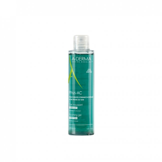 A-Derma Phys-Ac Gel Limpeza Purificante Pele Oleosa 200ml