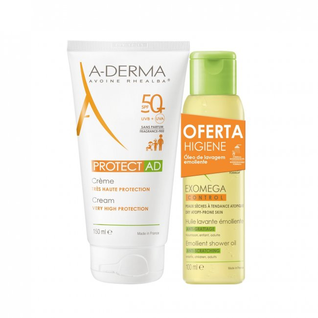 PACK PROMOCIONAL: A-Derma Protect AD Cream SPF50+ 150ml + Shower Oil 100ml