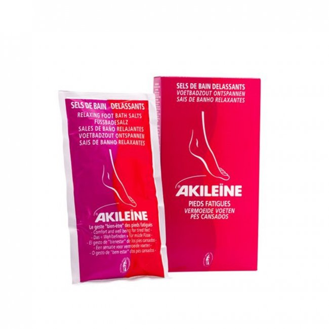 Akileine Relaxing Bath Salts Sachets For Fatigue Feet 2x150g