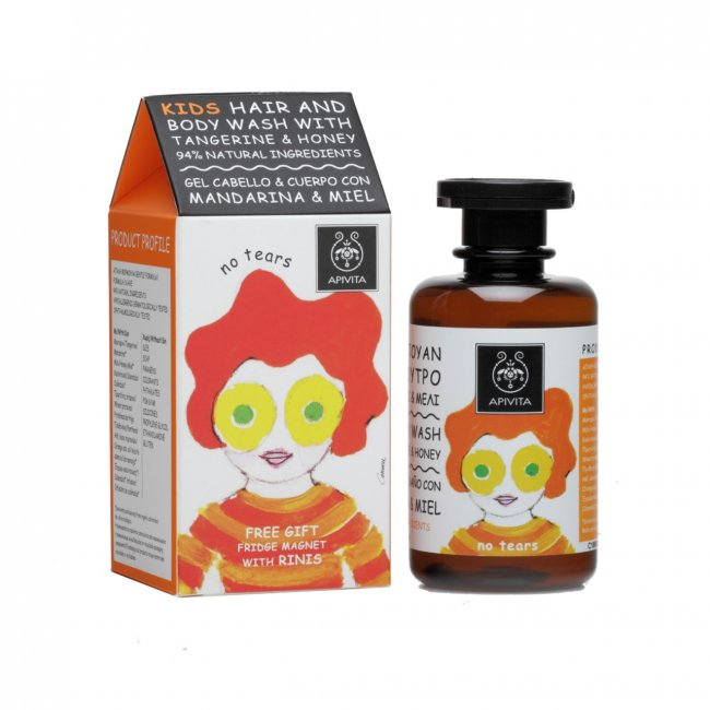 APIVITA Kids Hair & Body Wash Tangerine & Honey 250ml