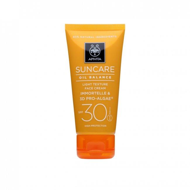 APIVITA SunCare Oil Balance Light Texture Face Cream SPF30 50ml
