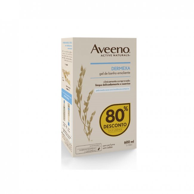 PROMOTIONAL PACK: Aveeno Dermexa Emollient Body Wash 300ml x2