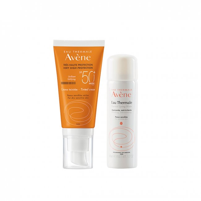 PACK PROMOCIONAL: Avène Sun Tinted Cream SPF50+ 50ml + Thermal Spring Water 50ml