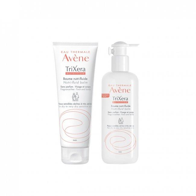 PACK PROMOCIONAL: Avène TriXera Nutrition Nutri-Fluid Balm Face&Body 400+200ml