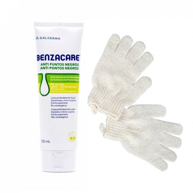 PROMOTIONAL PACK: Benzacare Anti Blackhead Exfoliating Gel 120ml + Cleansing Mitts