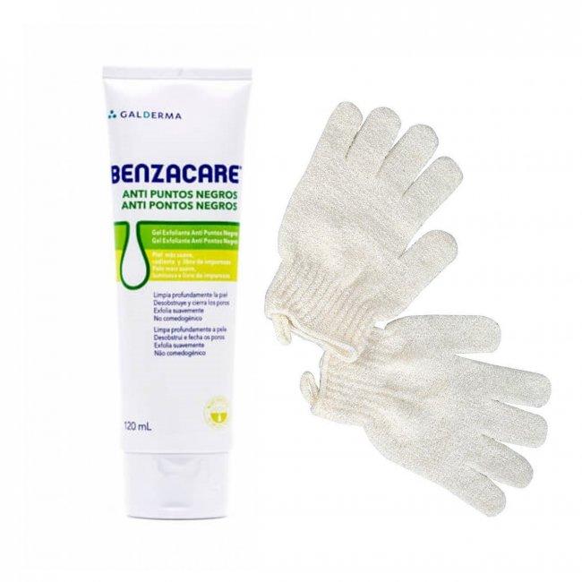 PACK PROMOCIONAL: Benzacare Anti Blackhead Exfoliating Gel 120ml + Cleansing Mitts