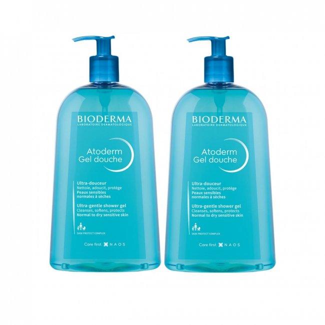 PROMOTIONAL PACK: Bioderma Atoderm Gel Douche Ultra-Gentle Shower Gel 500ml x2