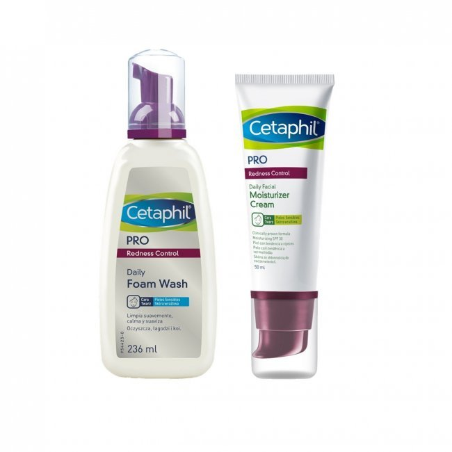 PACK PROMOCIONAL: Cetaphil Pro Redness Control Wash Foam 236ml + Tinted Moisturizer 50ml