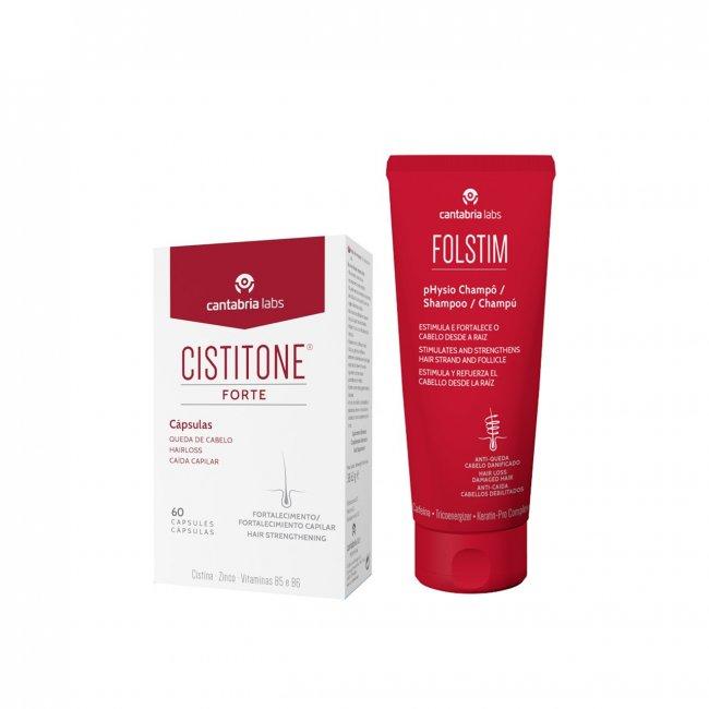 PACK PROMOCIONAL: Cistitone Forte Capsules x60 + Folstim pHysio Shampoo 200ml