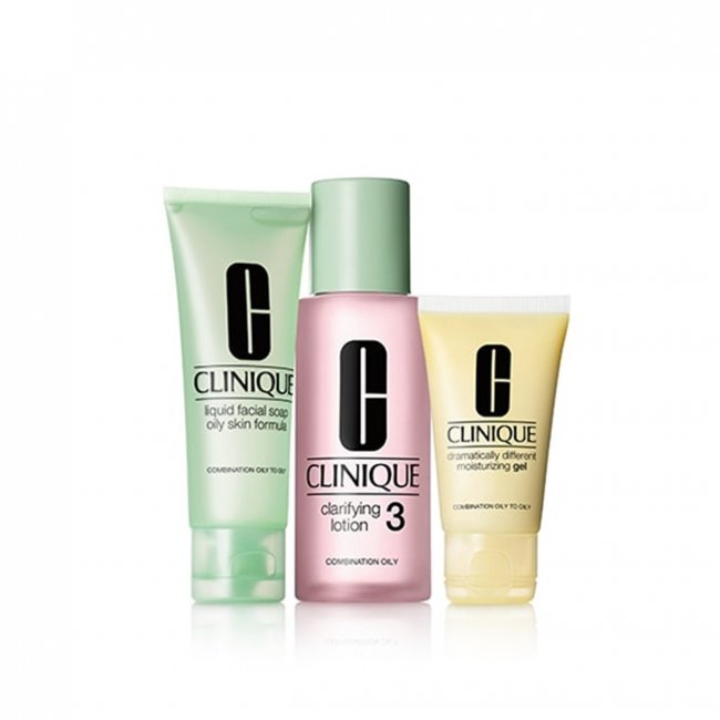 COFFRET: Clinique 3 Step Skin System - Type 3 Oily Combination Skin