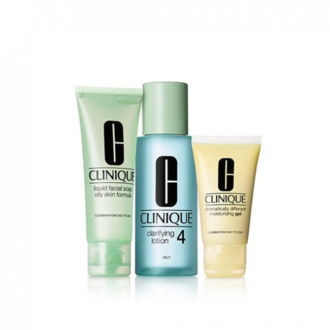 COFFRET: Clinique 3 Step Skin System - Type 4 Oily Skin
