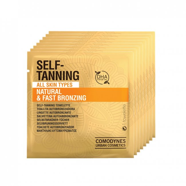 Comodynes Natural Self-Tanning Wipes x8