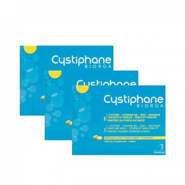PACK PROMOCIONAL: Cystiphane Biorga Food Supplement Hair and Nails 3x60