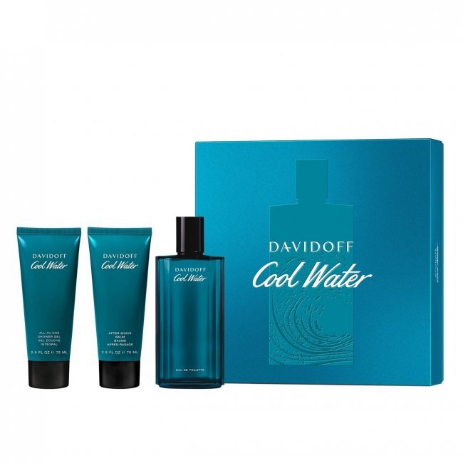 GIFT SET: Davidoff Cool Water Eau de Toilette For Men Trio Coffret