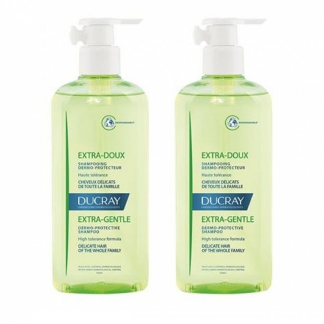 PROMOTIONAL PACK: Ducray Extra-Doux Dermo-Protective Shampoo 400ml x2