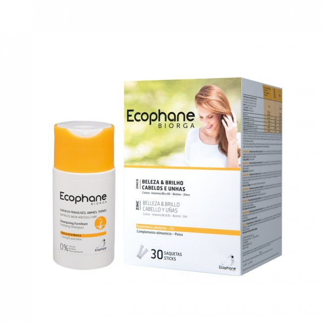 PACK PROMOCIONAL: ECOPHANE Fortifying Powder Sachets x30 + Fortifying Shampoo 100ml