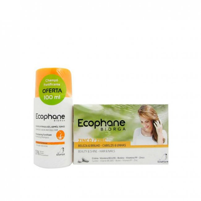 PACK PROMOCIONAL: ECOPHANE Fortifying Tablets x60 + Fortifying Shampoo 100ml
