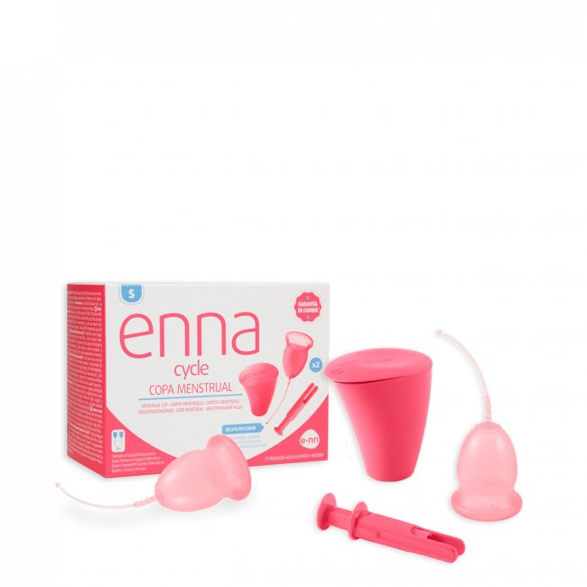 Enna Cycle Menstrual Cup Twin Pack Small With Sterilizer & Applicator