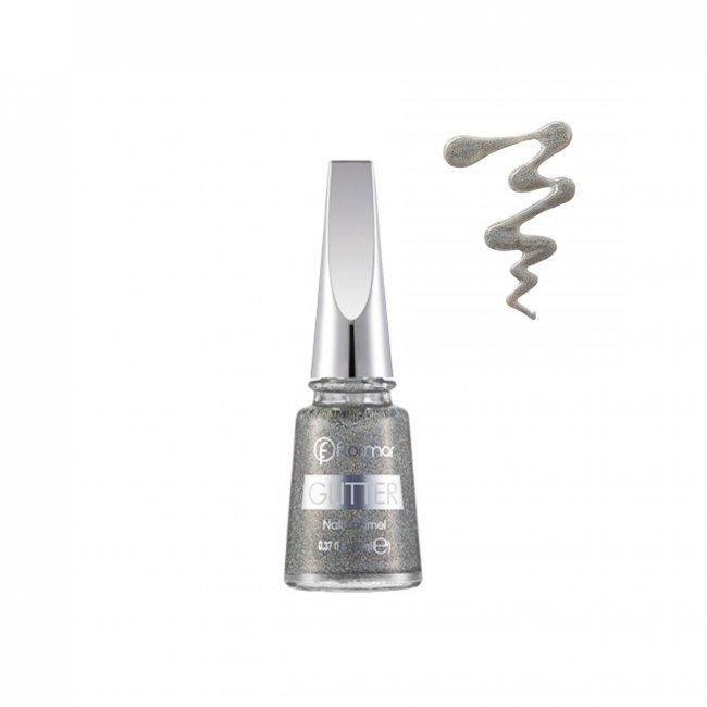 Flormar Glitter Nail Enamel 14 Holographic Silver 16ml