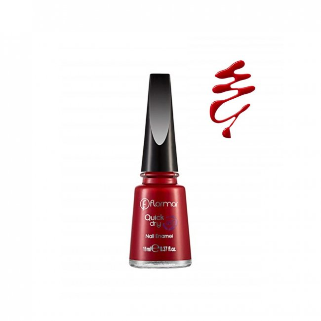 Flormar Quick Dry Nail Enamel 04 Red Flag 11ml