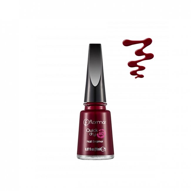 Flormar Quick Dry Nail Enamel 22 Red Velvet 11ml