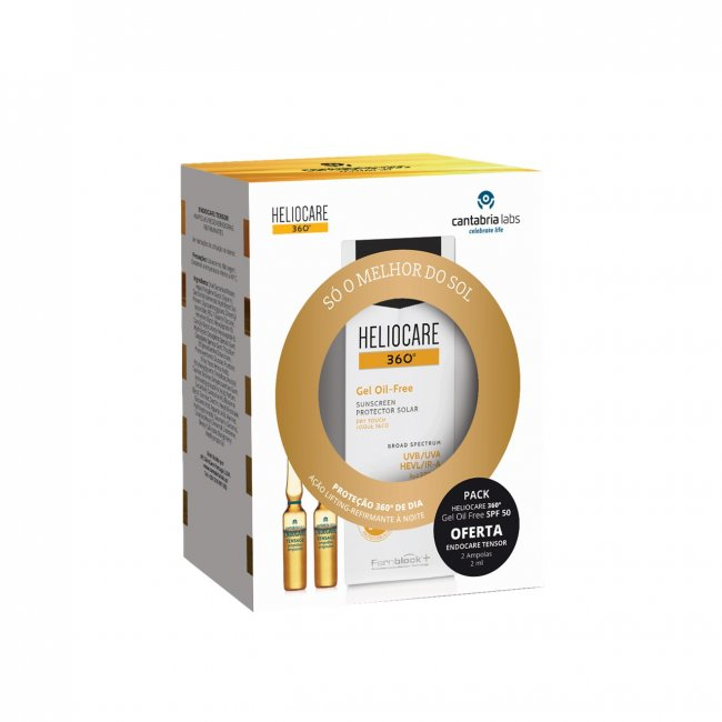 PACK PROMOCIONAL: Heliocare 360 Gel Oil-Free SPF50 50ml + Endocare Tensage Ampoules 2mlx2