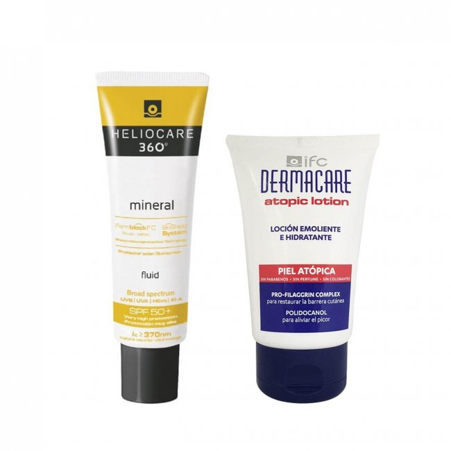 PROMOTIONAL PACK: Heliocare 360 Mineral SPF50 50ml + Dermacare Atopic Lotion 100ml