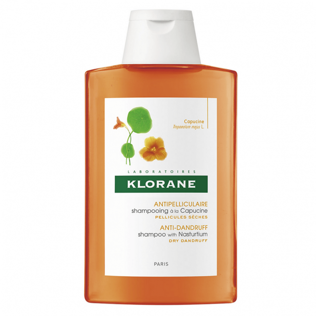 Best for dandruff: Klorane Anti-Dandruff Shampoo With Nasturtium 200ml