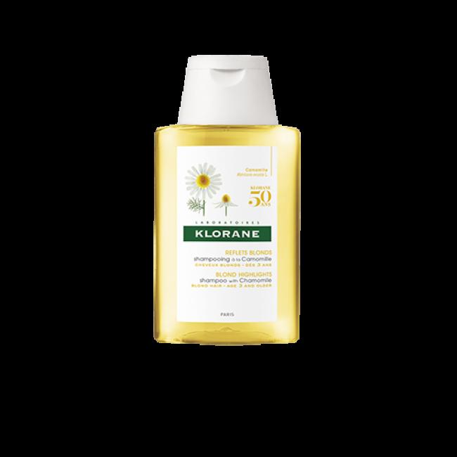 TAMANHO DE VIAGEM: Klorane Blond Shampoo Reflexos Dourados c/ Camomila 100ml
