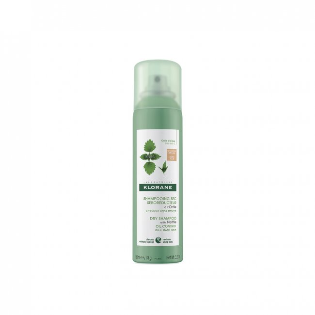 Klorane Dry Shampoo with Nettle Brown to Dark Hair 150ml