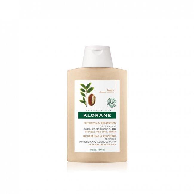 TAMANHO DE VIAGEM: Klorane Nourishing & Repairing Organic Cupuaçu Butter Shampoo 100ml