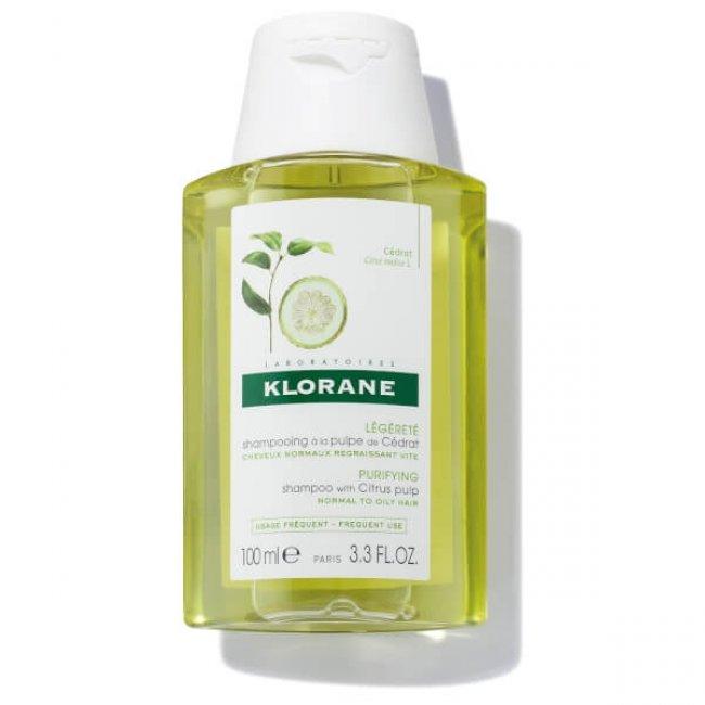 Klorane Purifying Shampoo with Citrus Pulp 100ml