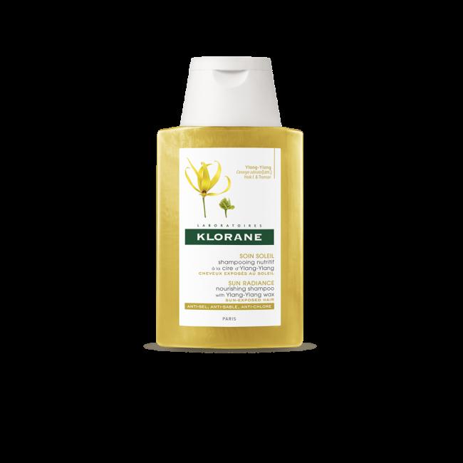 TAMANHO DE VIAGEM: Klorane Sun Radiance Shampoo Nutritivo c/ Ylang Ylang 100ml