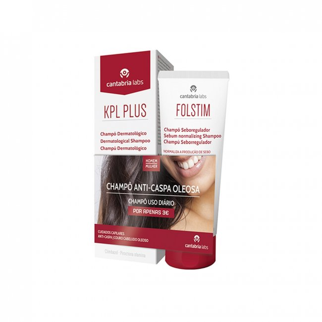 PROMOTIONAL PACK: KPL Plus Shampoo 200ml + Folstim Sebo-Regulating Shampoo 200ml