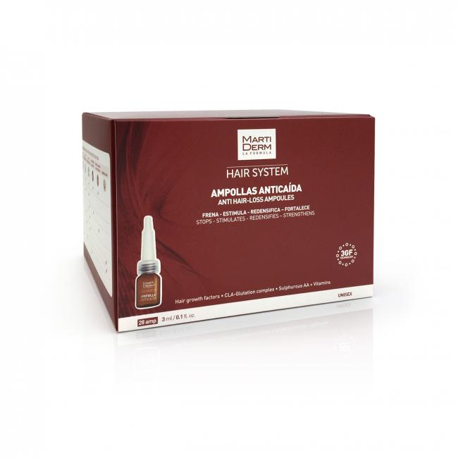 Martiderm Hair System 3GF Ampoules Anti Hair Loss x28