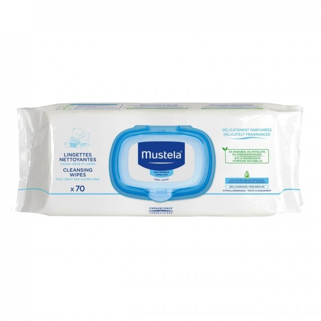 Mustela Baby Cleansing Wipes x70