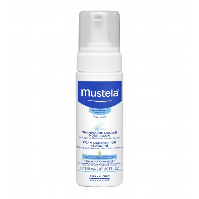 Mustela Baby Foam Shampoo Newborns Cradle Cap 150ml