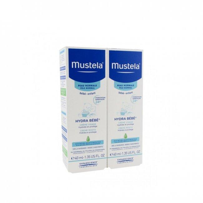 PACK PROMOCIONAL: Mustela Baby Hydra Bébé Face Cream 2x40ml