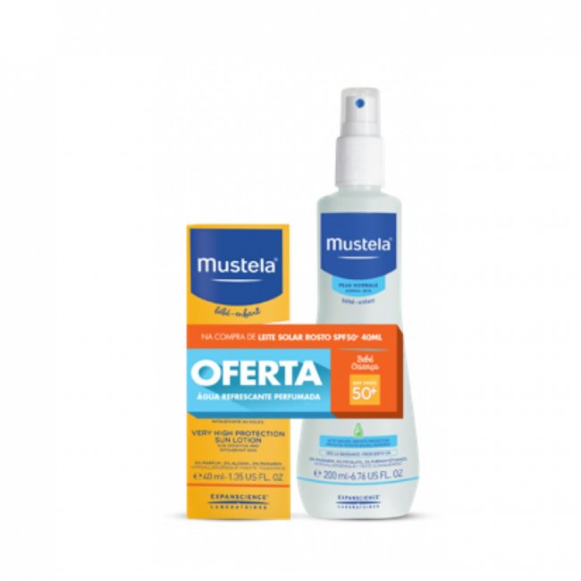 PACK PROMOCIONAL: Mustela Sun Lotion SPF50+ 40ml + Skin Freshener Spray 200ml