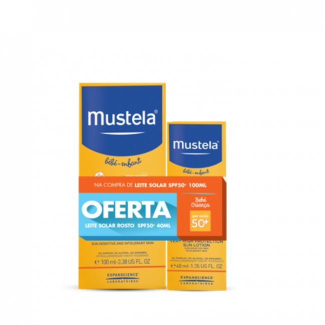 PACK PROMOCIONAL: Mustela Sun Very High Protection Sun Lotion SPF50+ 100ml + 40ml