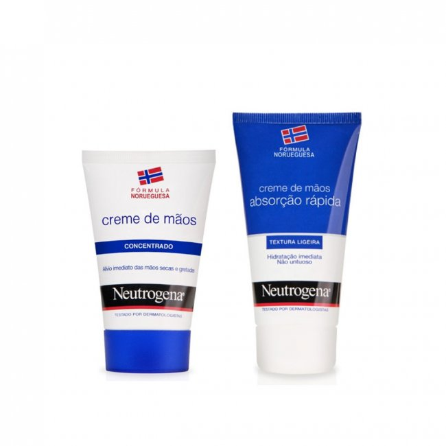 PROMOTIONAL PACK: Neutrogena Concentrated Hand Cream 50ml + Hand Cream Light 75ml
