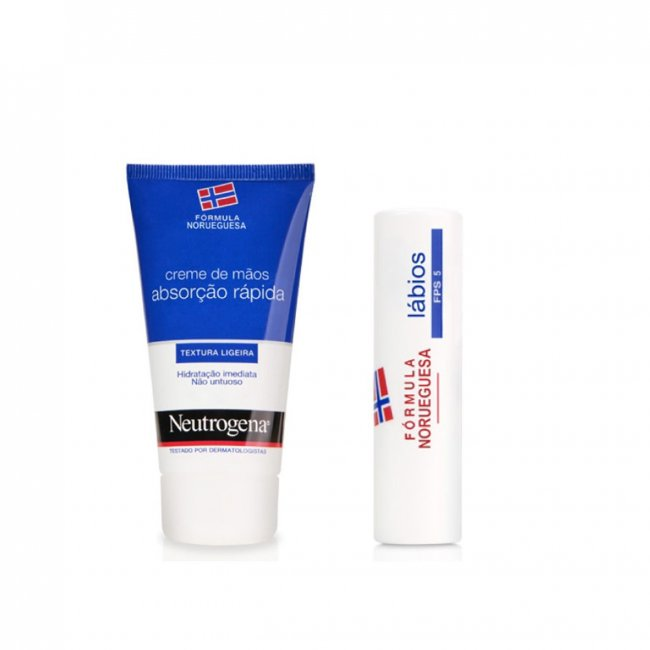 PROMOTIONAL PACK: Neutrogena Hand Cream Light Texture 75ml + Lipstick 4.8g