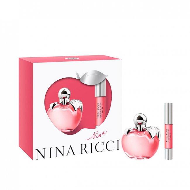 GIFT SET: Nina Ricci Nina Eau de Toilette 50ml + Jumbo Lipstick Matte Fancy Pink