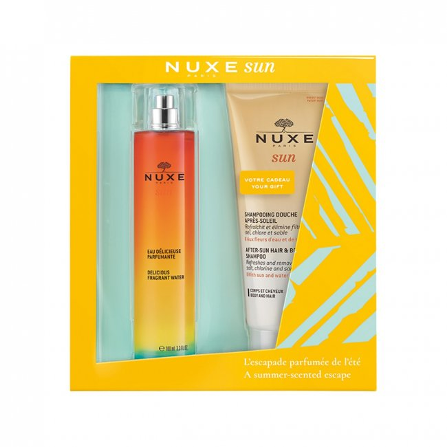 GIFT SET: NUXE Sun Delicious Fragrant Water 100ml + After Sun Shampoo 200ml