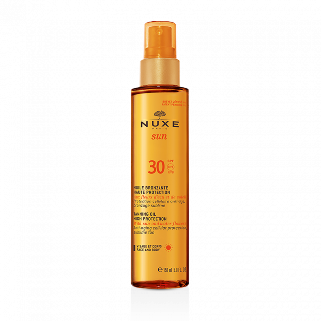 Buy NUXE Sun Tanning Oil High Protection for Face and Body SPF30 ...