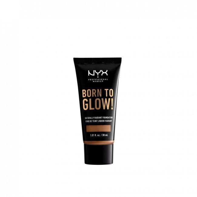 NYX Pro Makeup Born To Glow Radiant Foundation Mahogany 30ml
