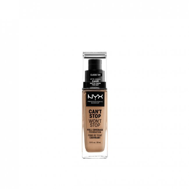 NYX Pro Makeup Can't Stop Won't Stop Foundation Classic Tan 30ml